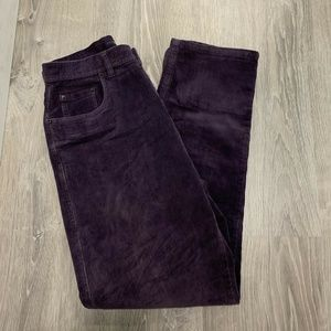 Bill Blass Corduroy Pants sz 8 Purple Stretch TR8